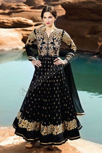 Black Georgette Churidar Suit. Design No. DMA12575. Price : £125.00, This design is perfect for Party, Wedding, Festival, Ceremonial and Occasion Wear. More Details Visit @ http://www.andaazfashion.co.uk/salwar-kameez/anarkali-suits/black-georgette-churidar-suit-dma12575.html