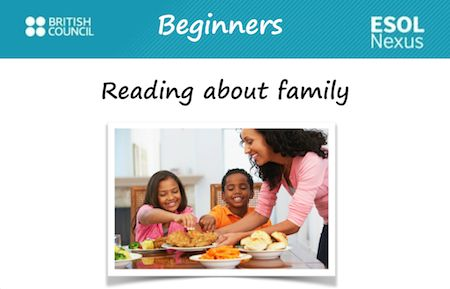 Reading about family. E1