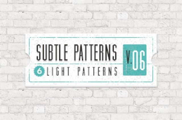 Volume 6 of our subtle light texture patterns background with 6 light tile patterns ideal for all your projects that require...