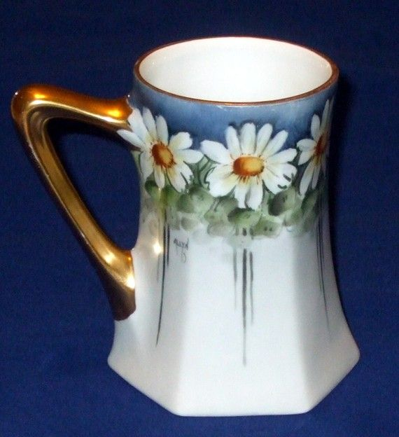 Antique Limoges Porcelain Mug by Paroutaud por AntiquesNOldies, $132.88