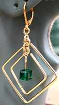 Marcia's Earrings made on WigJig jewelry tools using beads and common jewelry making supplies.