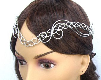 Celtic Elven Circlet - Medieval Renaissance Viking Crown - Elvish Vines Headpiece - Bridal Tiara - Iona
