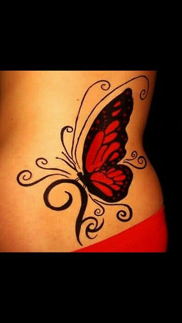 Butterfly tattoo for coverup
