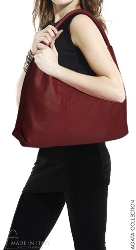 Agata Collection | Italian Leather Hobo Bag for Women | on SALE | Made in Italy Accessories https://madeinitalyaccessories.com/handbags