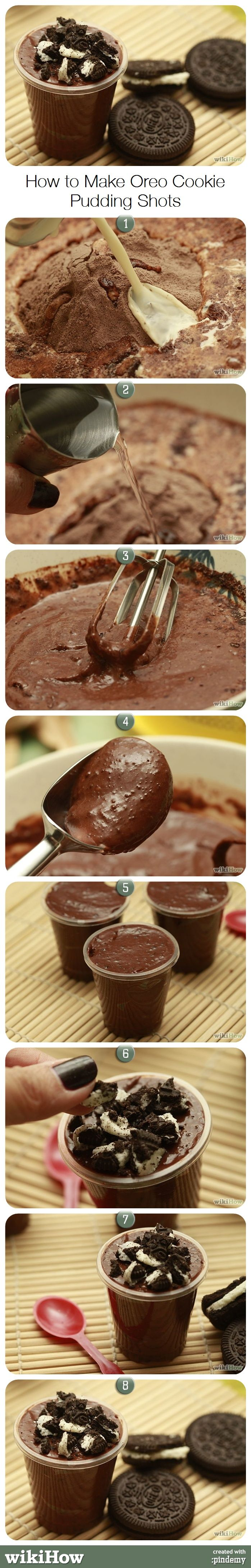 How to Make Oreo Cookie Pudding