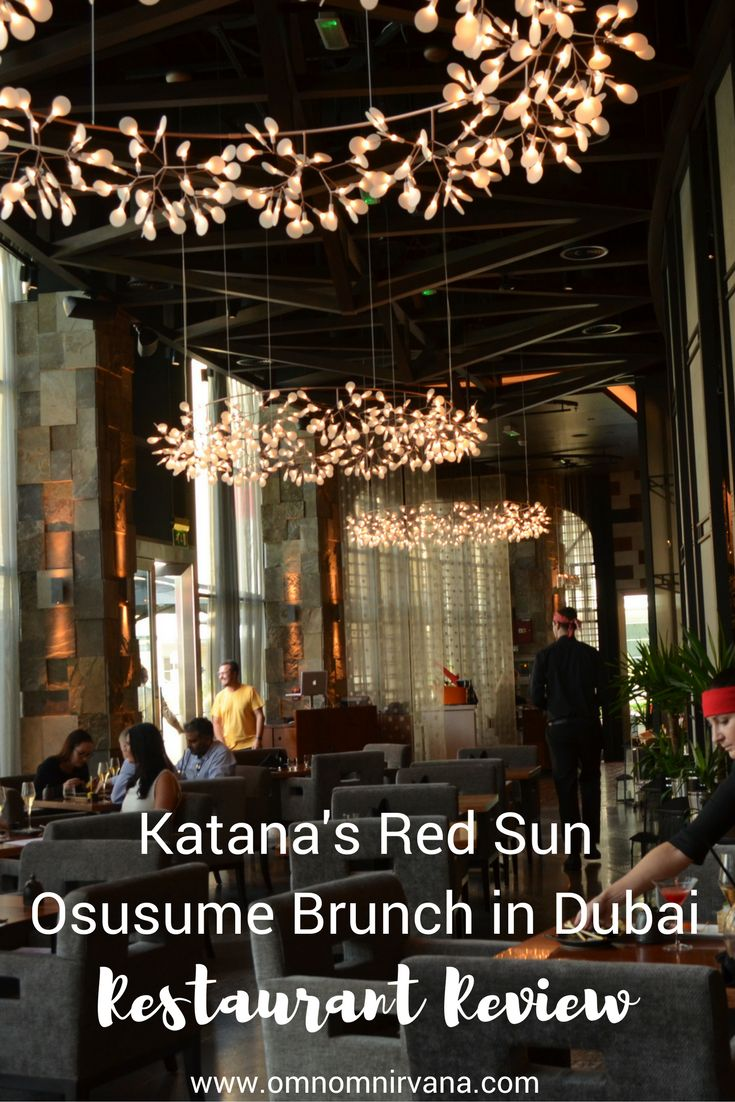 If you've never had Japanese food for breakfast, you'll want to check out Katana's Red Sun brunch in Dubai. It was a delicious experience with a fantastic view and a relaxing atmosphere. Check out what our favorite parts were about this delicious Japanese restaurant and why we can't wait to go back! Don't forget to save this to your food board.
