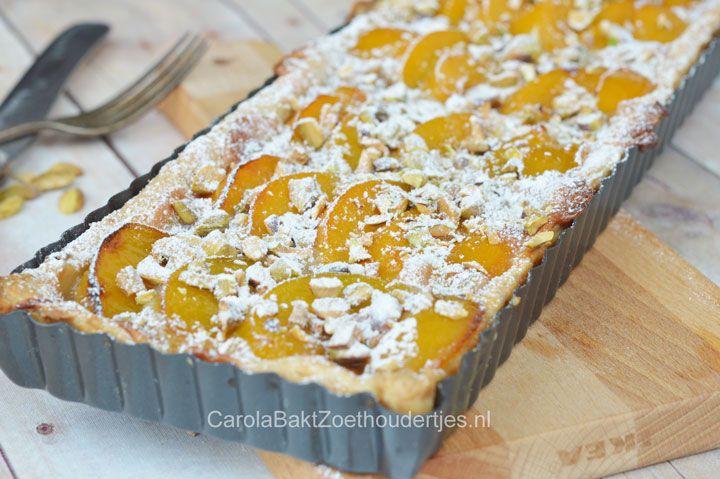 snel abrikozen taartje