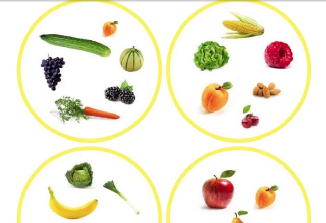 """printable """"Spot-It"""" game cards with images of fruits and veggies -- my students' favorite way to practice vocabulary!  {babybilingual.blogspot.com}"""