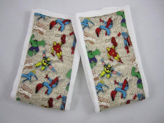 X-Men Burp Cloths - Embellished Prefolds - Marvel - The Avengers - 6 Ply Premium Burp Cloth Diapers - Set of Two - Baby Boy- Gauze Weave via Etsy