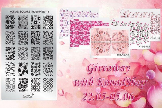 Anna Budanova: Giveaway совместно с KonadShop пластины Konad Square Image Plate 11 и 5 слайдер дизайнов Nail Dream