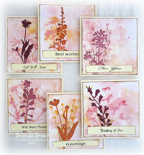 Hi Brenda here.   I recently had some fun making up a masterboard with some of the oxides and gesso to produce this set of small (4x4) ca...