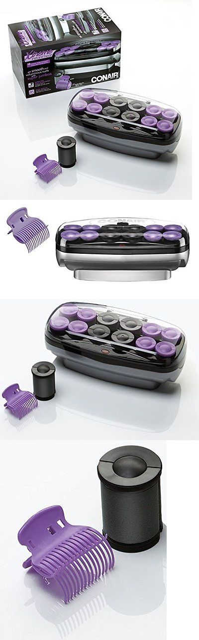 Rollers and Curlers: Rollers Hair Beauty Conair Large Ceramic Electric Jumbo Big Hot Heat 12 Curler BUY IT NOW ONLY: $42.93