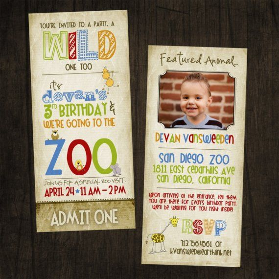 Tall Zoo Birthday Invitation featuring YOU