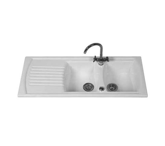 Clearwater Sonnet Double Bowl Ceramic Sink SO2DB