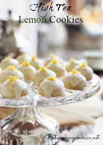High Tea Lemon Cookies | What's Cooking America?
