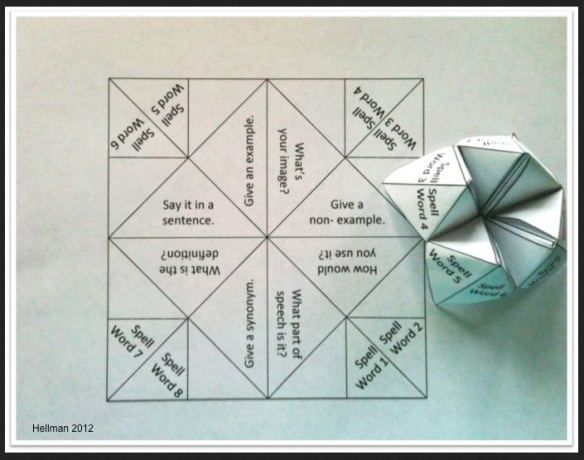 FREE Cootie Catcher Printables~  Check out the free, easy-to-edit Powerpoint cootie catcher  template, as well as links to 10+ ready-made, print-and-go cootie catchers.  Resources include cootie catchers that review math, vocabulary, and grammar.  Quick, easy way to make learning fun!