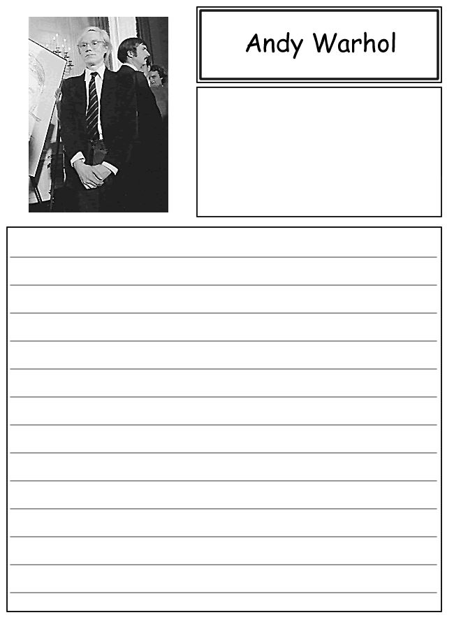 best andy warhol art work images andy warhal  andy warhol notebooking paper for our campbell soup study