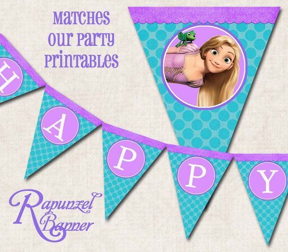 Rapunzel Tangled Birthday Party Banner by missbellaexpressions,