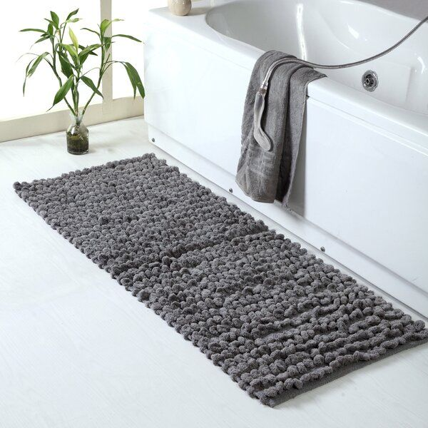 Ivy Bronx Atwell Thick Loop Cotton Chenille Bath Rug Reviews Wayfair Bathroom Rugs Bath Rug Chenille Bath Rugs