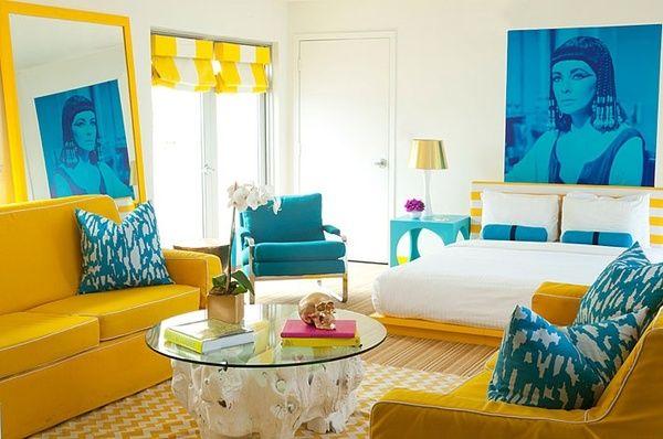 Paleta de Colores de Hoy: Amarillo y Azul -- DecoIdeal