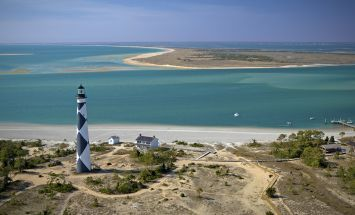 Cape Lookout Lighthouse is only accessible by ferry, but well worth the trip