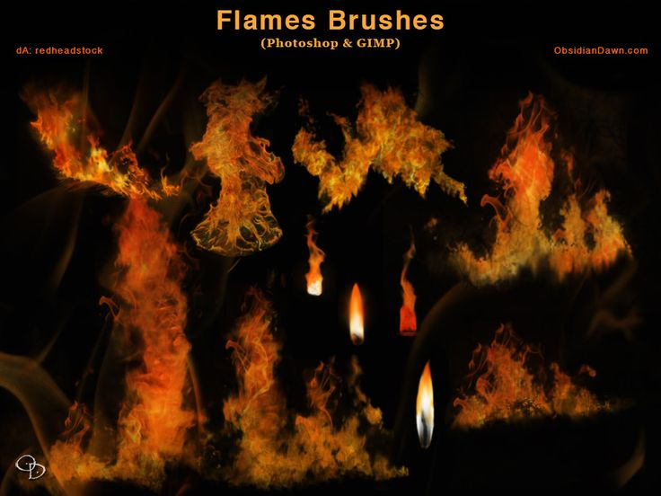 Flames - Fire Photoshop and GIMP Brushes by redheadstock.deviantart.com on @DeviantArt