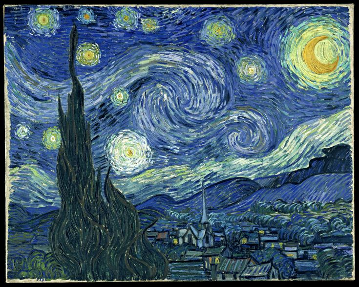 Vincent van Gogh: Art, Vans, Starrynight, Vincentvangogh, Favorite Painting, Artist, Paintings, Vincent Van Gogh, Starry Nights