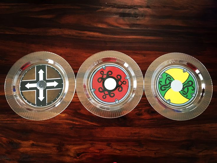 Viking Shield Plates  https://www.facebook.com/mudpieparties/
