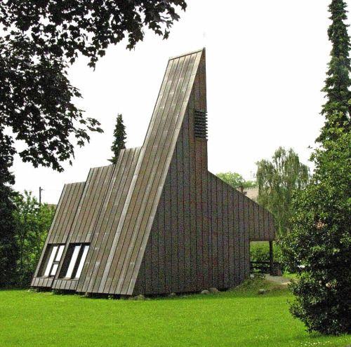Friedenskirche (1975-76) in Münstertal, Germany. Architect unknown.
