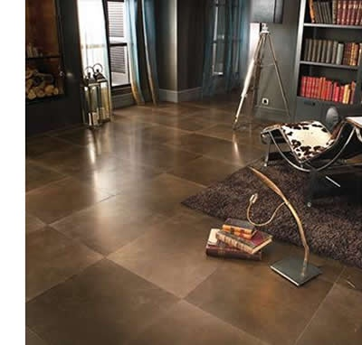 nice large tile with minimal grout lines (called rectified tile).  nice warm colour...