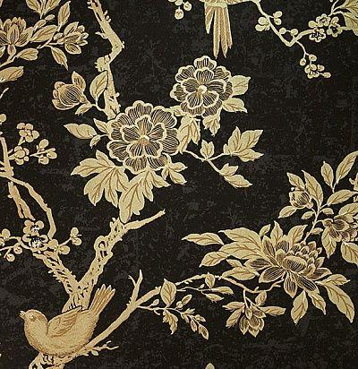черные обои с птицами в китайском стиле Ральф Лорен