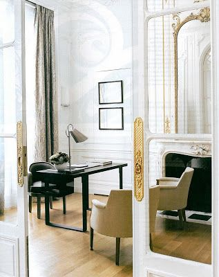 Paris townhouse designed by fabulous French interior designer Andre Putman.