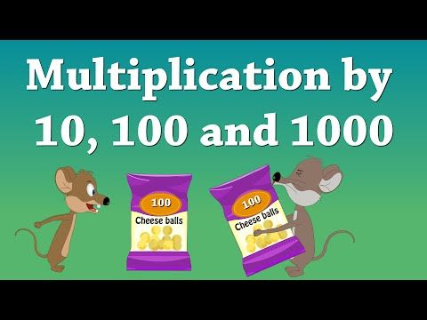 Multiplication by 10, 100 and 1000 - YouTube