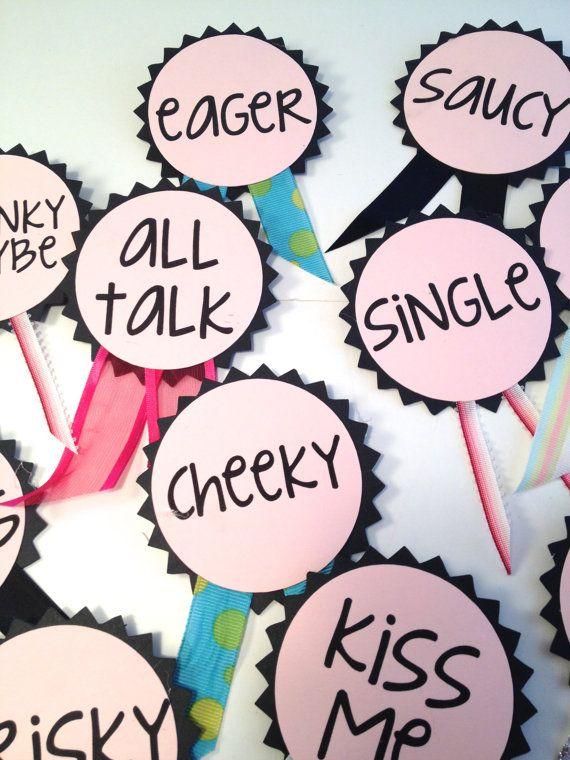 Bachelorette Party Pins, Name Tags, Bachelorette Sash, Bachelorette Party Decora