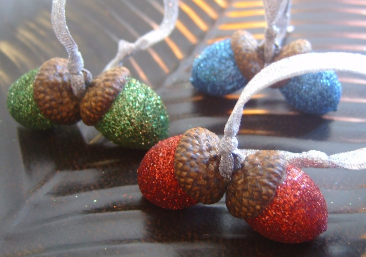 Acorn ornaments christmas crafts and decorations pinterest for How to make acorn ornaments