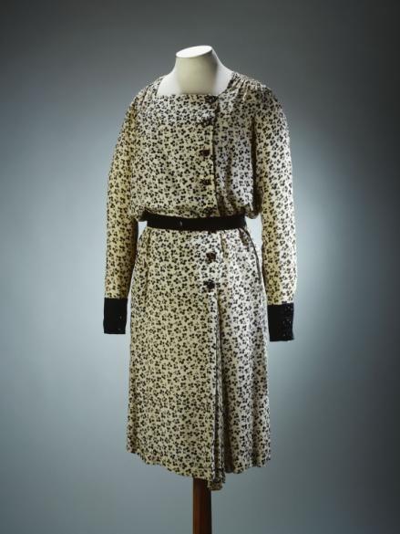 """Dress """"Trèfle noir"""", Nicole Groult designer, French, 1923-33"""