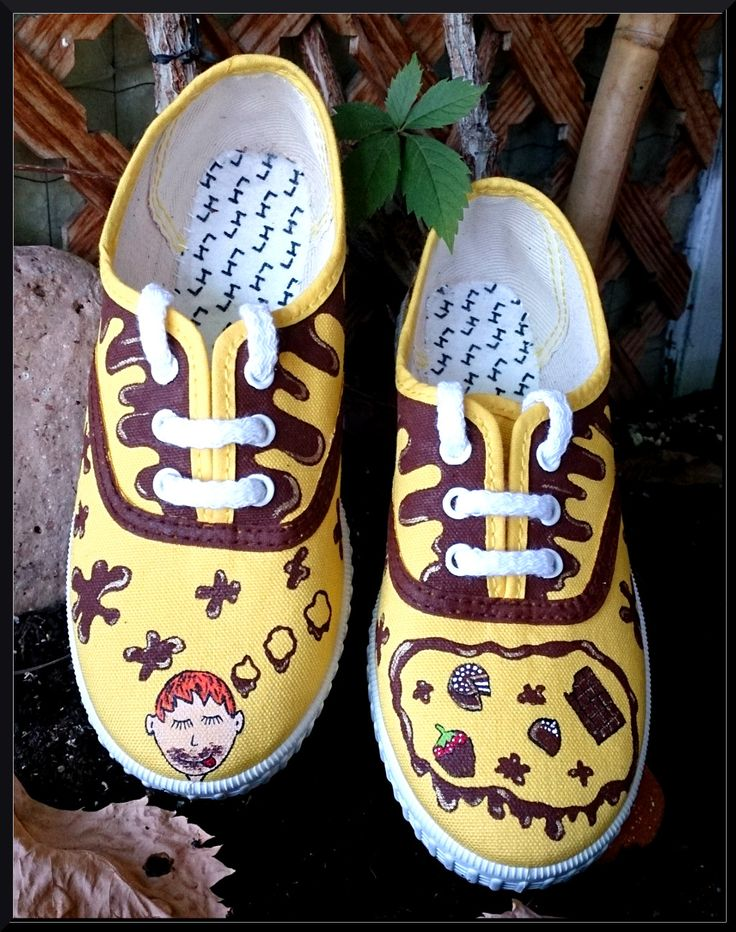 Zapatillas pintadas a mano: Niño dulce