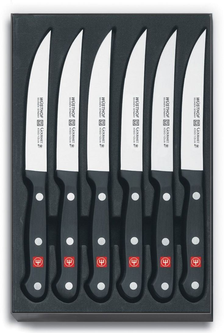 Wusthof Gourmet 6 Piece Steak Knife Set @kitcheneq