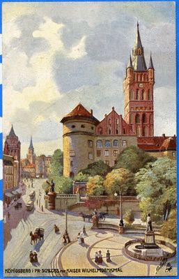 Königsberg (Pr.), Schloß mit Kaiser-Wilhelm-Platz, Gemälde