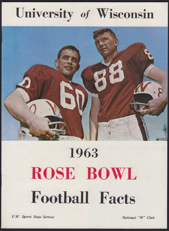 Wisconsin 1963 Rose Bowl media guide