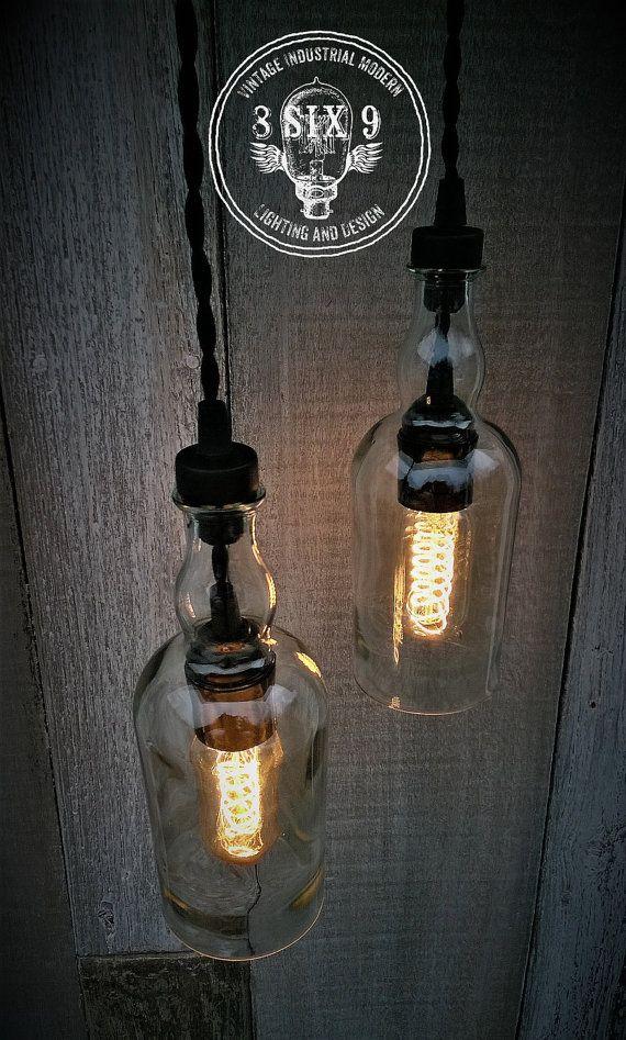 Balvenie Whisky Bottle Pendant Light Black Series by 8SIX9Design