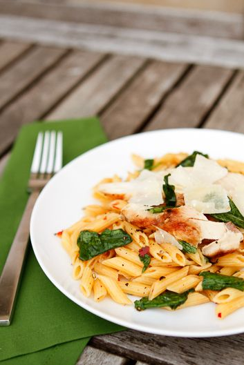 Spicy Penne Pasta -- chili pepper, garlic and arugula pair perfectly ...