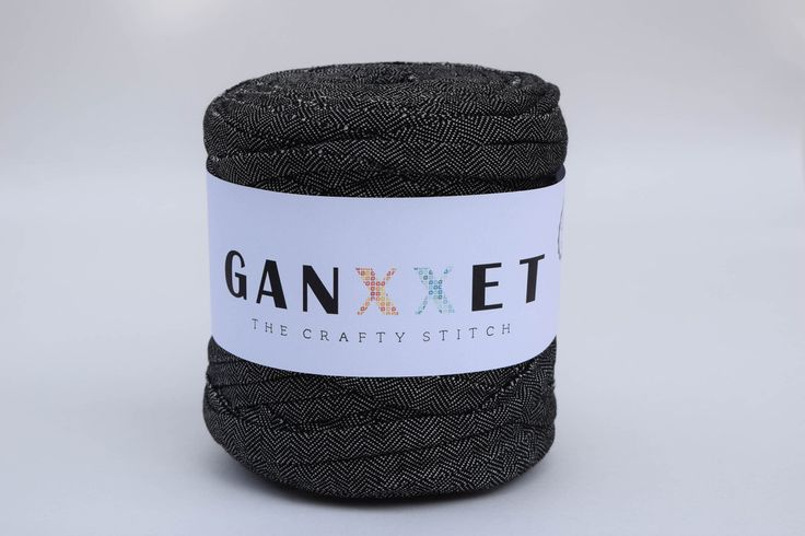 GANXXET Fabric Yarn - Malmö Color ( black with texture )