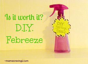 DIY Febreeze with DIY Fabric Softener