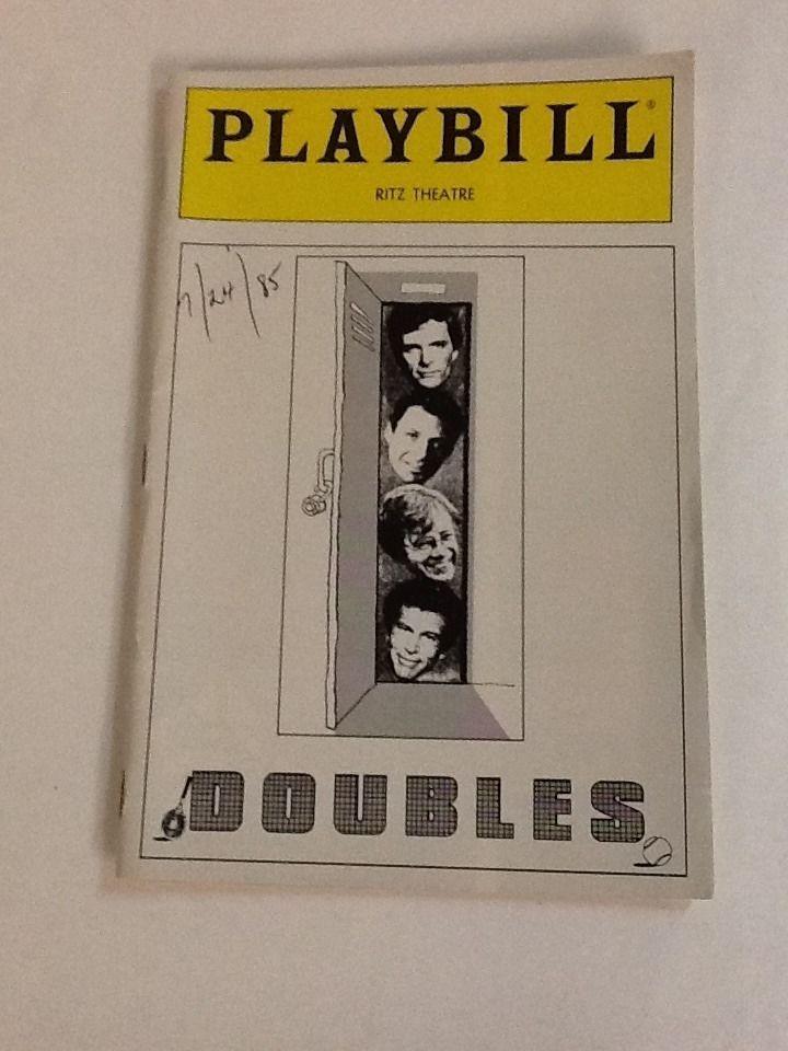 Doubles Playbill Ron Leibman Austin Pendleton Tony Roberts Keir Dullea July 1985