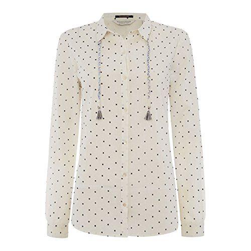 (メゾンスコッチ) Maison Scotch レディース トップス 長袖シャツ Maison Scotch Lightweight long sleeve polka dot shirt 並行輸入品  新品【取り寄せ商品のため、お届けまでに2週間前後かかります。】 カラー:ホワイト 素材:-