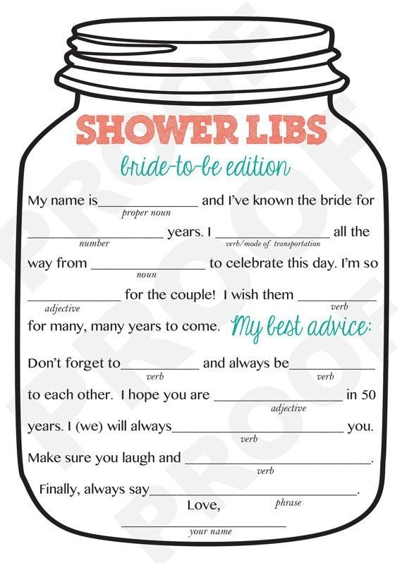 Bridal Shower Game Mason Jar Theme Shower by AestheticJourneys, $15.00 by carlene