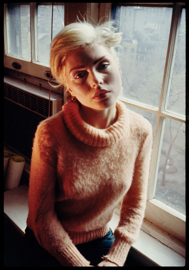 Debbie Harry At the Gramercy Park Hotel, Circa 1978 #style #fashion #blondie #70s #turtleneck
