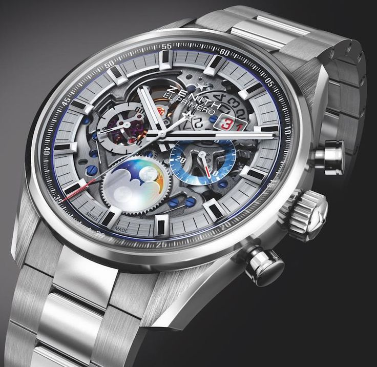 Another new release is this Zenith Chronomaster El Primero Grande Date full open. With a dial carved in sapphire, a fully skeletonized architecture, a grande date and two different case versions...