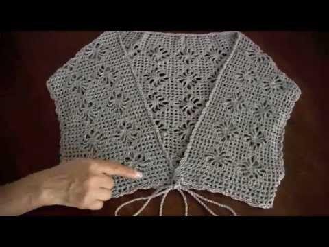 Video tutorial in Spanish -Bolero o torera en punto araña a crochet